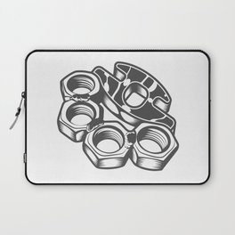 """Fashion Modern Design Print """"Brass Knuckles""""! Rap, Hip Hop, Rock style and more Laptop Sleeve"""
