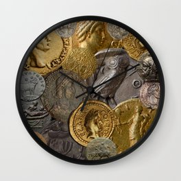 Ancient Coins 1 Wall Clock
