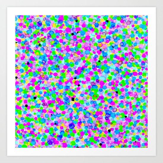 Colored Dots # 4 Art Print