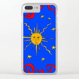 SunOnTheBlueSky Clear iPhone Case