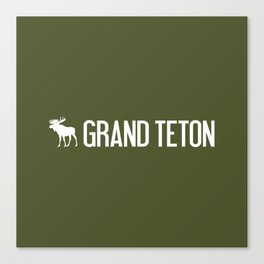 Grand Teton Moose Canvas Print