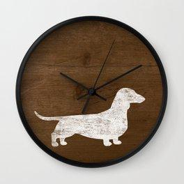 Dachshund Silhouette(s) Wall Clock