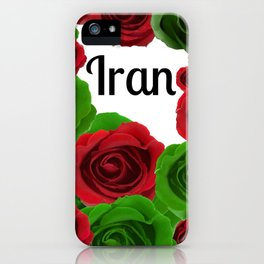 Iran Red and Green Roses iPhone Case