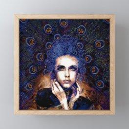 Plume - Peacock Goddess Framed Mini Art Print