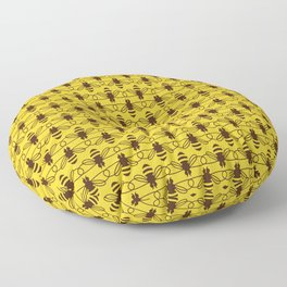 Be safe - save bees Floor Pillow