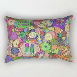 Noisy Buttons Rectangular Pillow