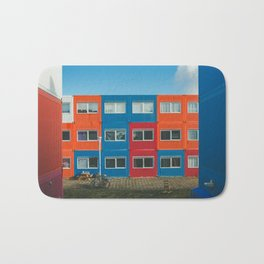 Colorful Container house Amsterdam Bath Mat