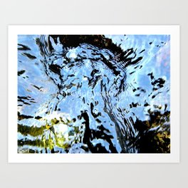Standing In The River Art Print