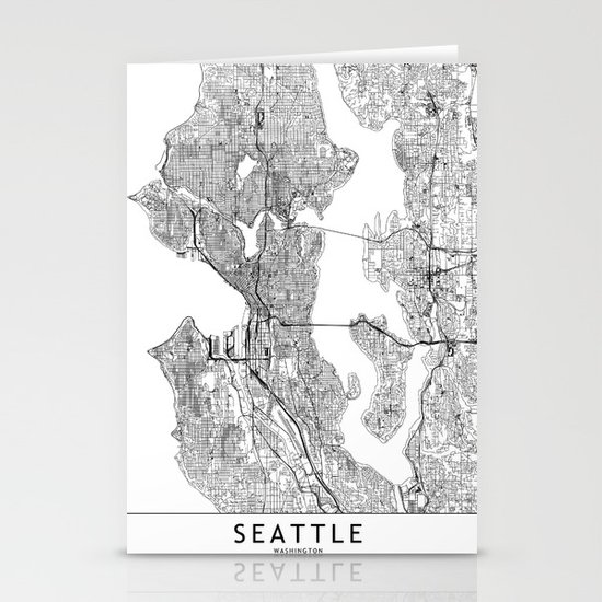 Seattle White Map by multiplicity