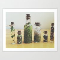 oasis Art Prints featuring Oasis by Shiroshi