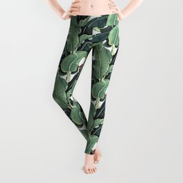 banana leaf pattern Leggings