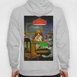 Dogs Playing Poker A Friend in Need Hoody