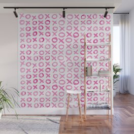 Xoxo valentine's day - pink Wall Mural
