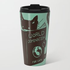 World Domination for Cats (Green) Travel Mug