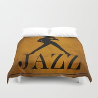 jazz Duvet Covers featuring Jazz by Eleanor Rose