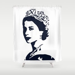 Young Queen in Blue Shower Curtain