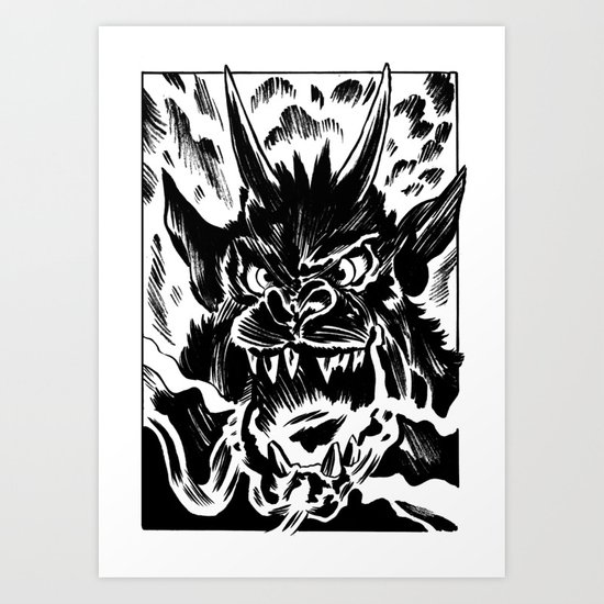 Night of the Demon Art Print