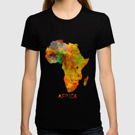 Africa map colored T-shirt