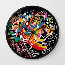 Abstract multicolor ing Wall Clock