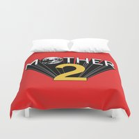 earthbound Duvet Covers featuring Mother 2 / Earthbound Promo by Studio Momo╰༼ ಠ益ಠ ༽
