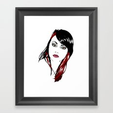 minimal girl 3 Framed Art Print