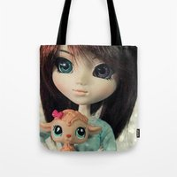 lamb Tote Bags featuring Lamb by ♥  Little Enchanted World ♥
