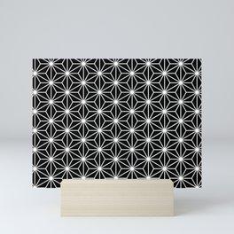 Black geometric pattern Mini Art Print