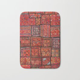 V5 Red Traditional Moroccan Design - A3 Bath Mat