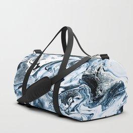 M A R B L E - dark blue & white Duffle Bag
