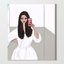 Hotel Selfie Canvas Print