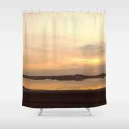 Not Venice sunset (by not Monet) Shower Curtain