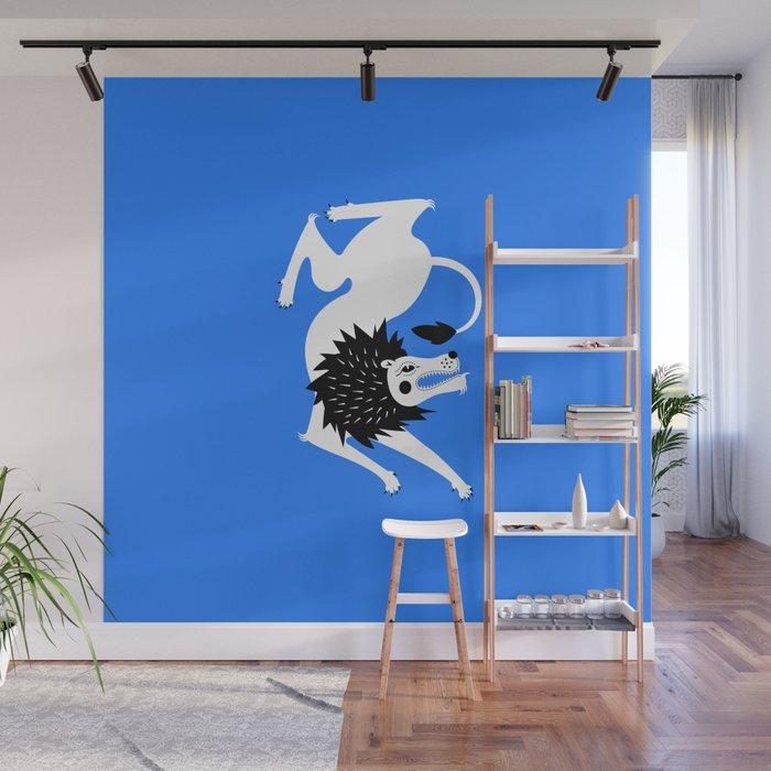 Dancing Beasts: Lion Wall Mural