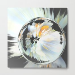 Flower crystal Metal Print