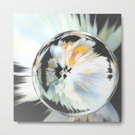 Flower crystal Metal Print