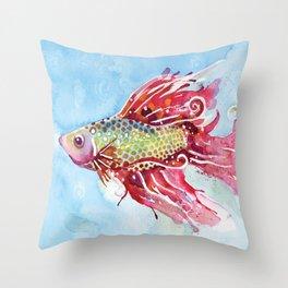Fish Swim Throw Pillow