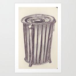 Ballpen Bin from NYC 8 Art Print