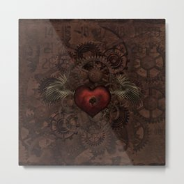 Steampunk Love Metal Print