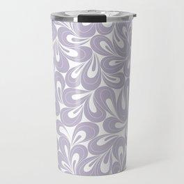 Violet Petals hand drawn elegant surface pattern for girls Travel Mug