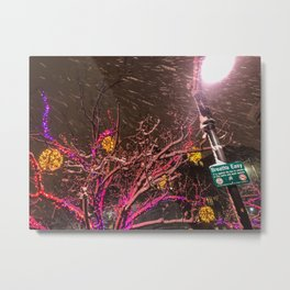 Longfellow Square Christmas Lights (4) Metal Print