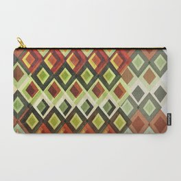 Geometric greens and reds Carry-All Pouch