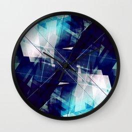 Shades of Blue - Geometric Abstract Art Wall Clock