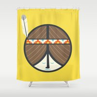 peace Shower Curtains featuring Peace by Wharton