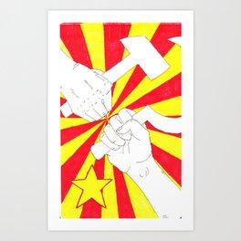 Real Comrades Brofist (Oliver Ryder)  Art Print
