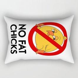 No Fat Chicks Rectangular Pillow