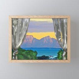 Open Window Sunrise False Bay Framed Mini Art Print