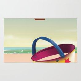 Visit the Seaside travel poster Rug