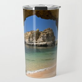 An Algarve beach, Portugal Travel Mug