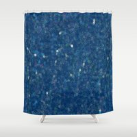 night sky Shower Curtains featuring Night Sky by Chloe Cristina