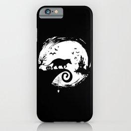 Opossum Halloween Costume Moon Silhouette iPhone Case