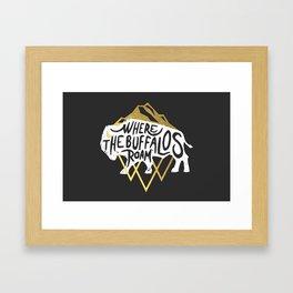 Where the Buffalos Roam Framed Art Print